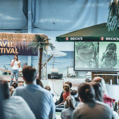 Fräulein Weltenbummel auf der Strandbühne beim 3. Travel Festival