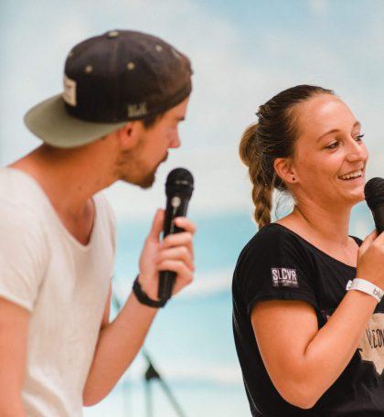 Bolle und Marco über ihre Weltreise auf der Strandbühne beim 2. Travel Festival in Witten