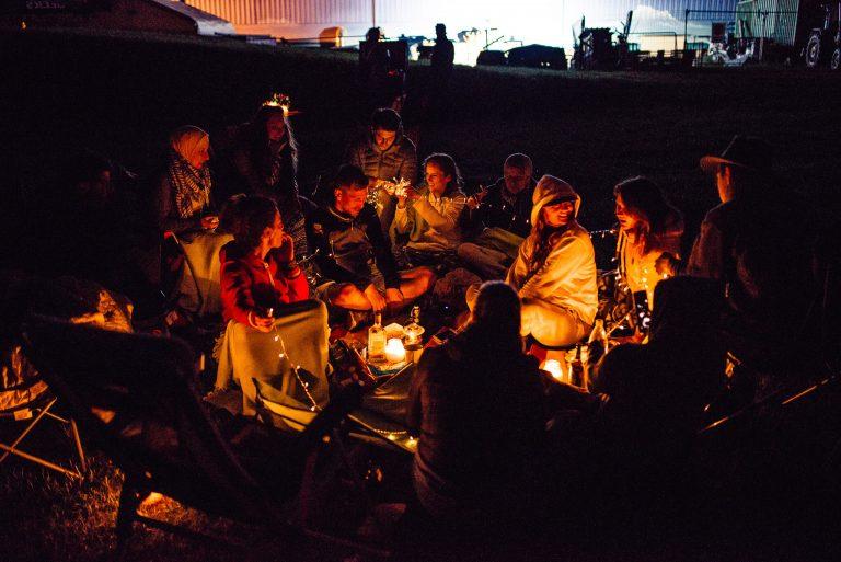 Camping auf dem Travel Festival