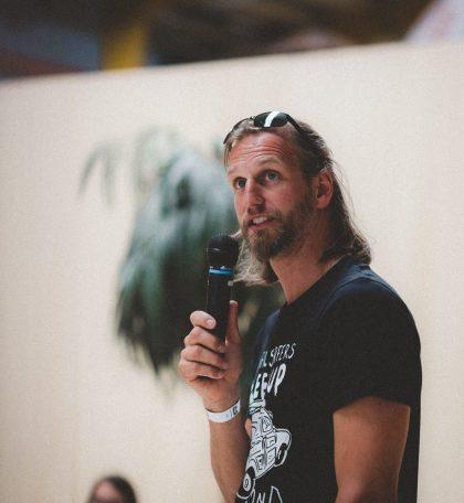 Weltumsegler Christian Wellner auf dem 1. Travel Festival über das Leben auf dem Segelschiff